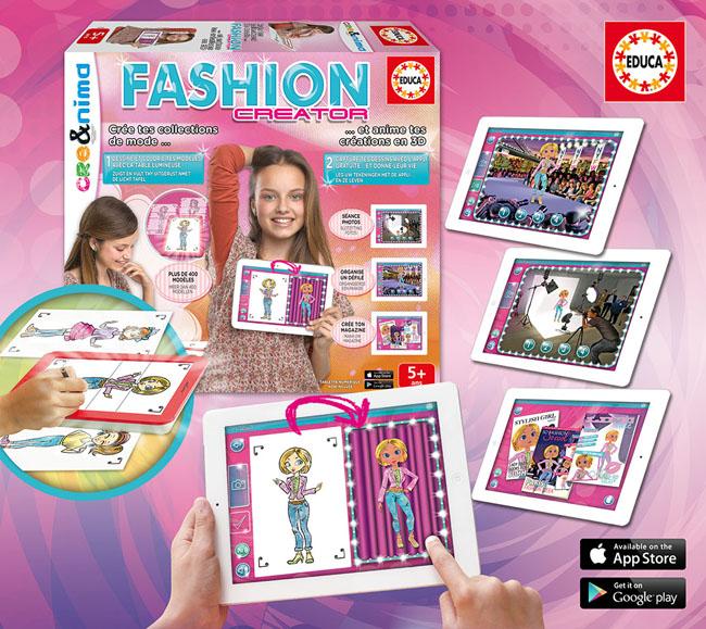 Boite de loisirs creatifs pour fille Fashion Creator Educa