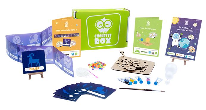 Contenu de la Chouette Box, activités Montessori pour enfants
