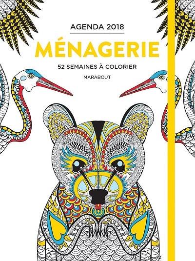 agenda 2018 à colorier Marabout