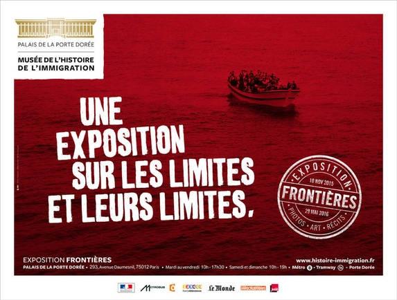 """Affiche de l'exposition """"Frontières"""" au Musée de l'Histoire de l'Immigration"""
