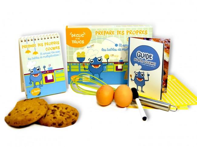 idée cadeau Kit Cookies pour enfants pour apprendre les tables de multiplication