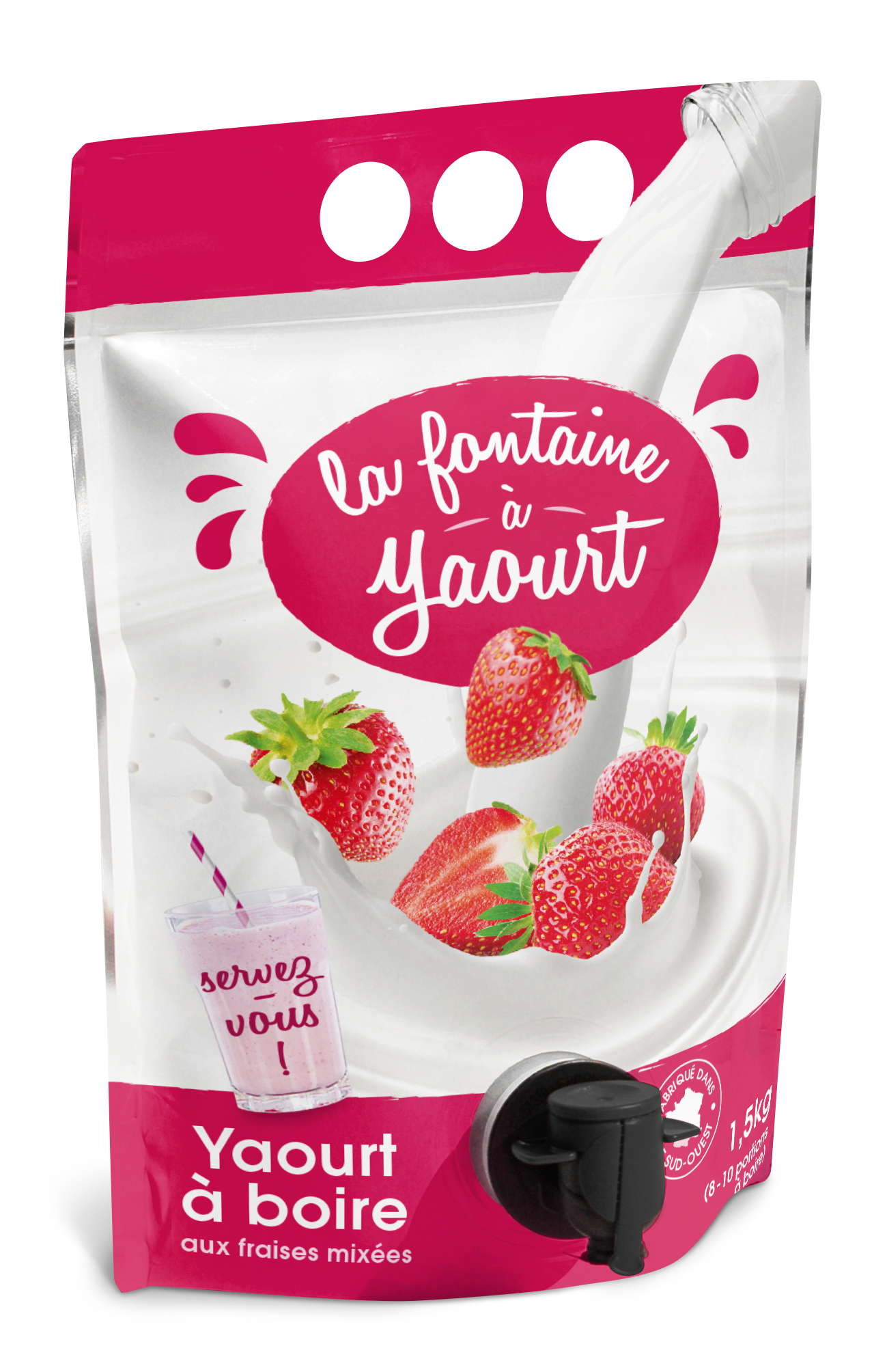 La fontaine yaourt packaging innovant pour yaourt boire for Idee produit innovant