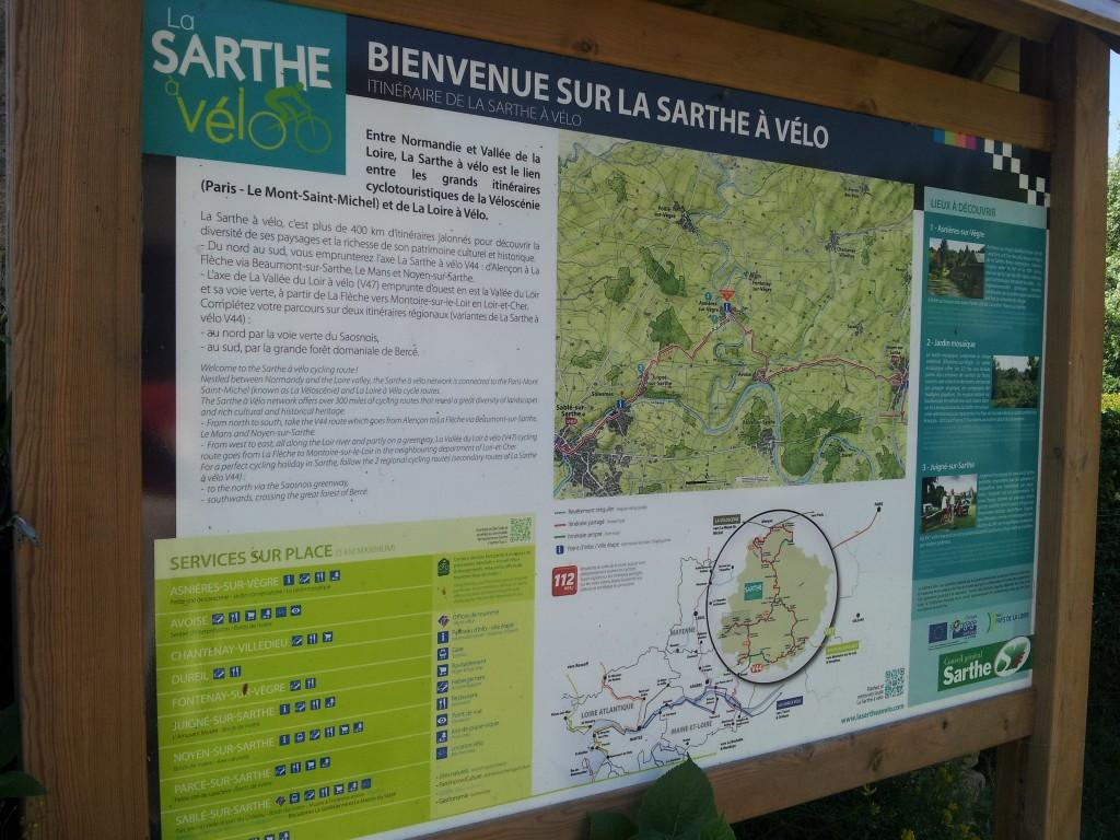 carte de la Sarthe à vélo