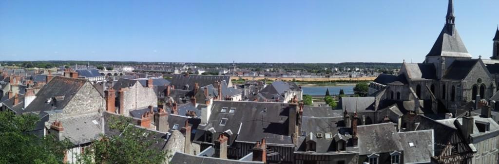 vue sur Blois et la Loire depuis le château