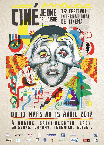 Affiche Festival International Cine-Jeune de l Aisne 2017
