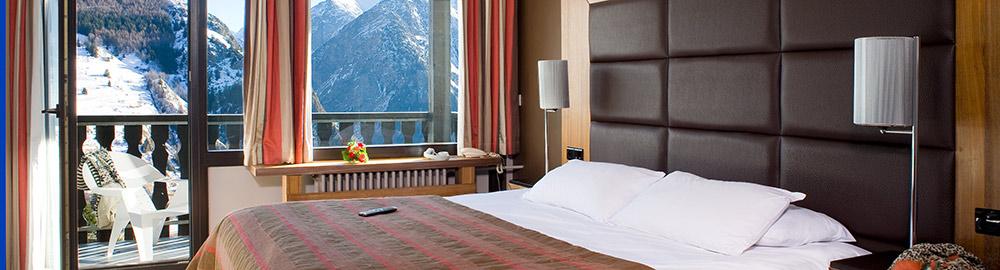 bon plan hotel ibiza 2 Alpes chambre vue montagne