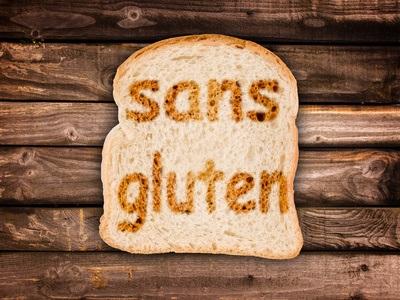 """texte"""" sans gluten"""" toasté sur tranche de pain de mie"""