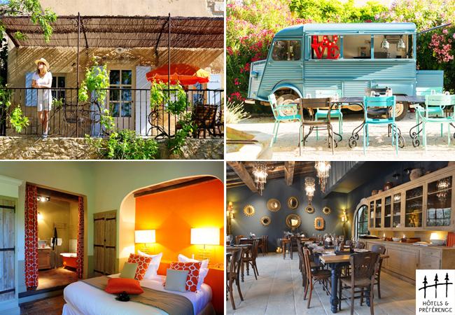 Hôtel Hameau des Baux vues terrasse, chambre, restaurant - Hôtels & Préférence