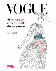 Cahier de 90 coloriages Vogue années 1950 Larousse