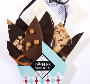 Bouquet de feuilles de chocolat L'Atelier du Chocolat