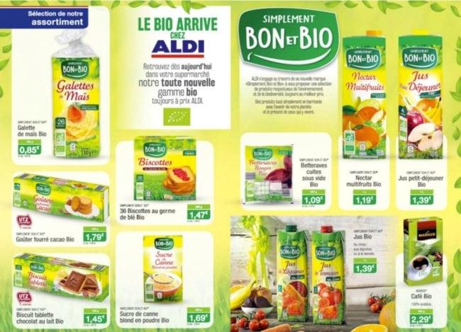 produits bio Aldi alimentaire