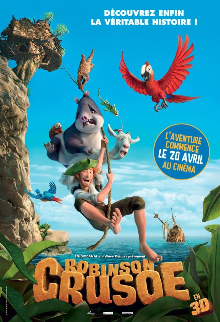 affiche du film Robinson Crusoé