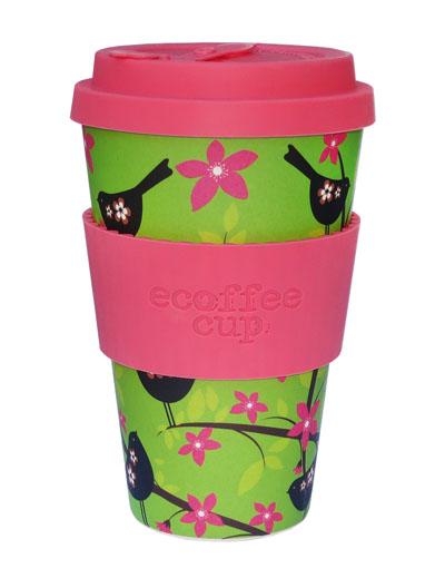 Travel mug ecoffee en bambou verte déco japonisant