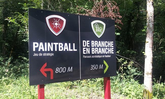 Activités loisirs nature paintball et accrobranche au Domaine de Nitot à Sus en Béarn