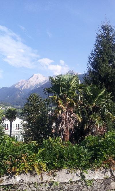 Vue sur la chaîne des Pyrénées depuis Laruns