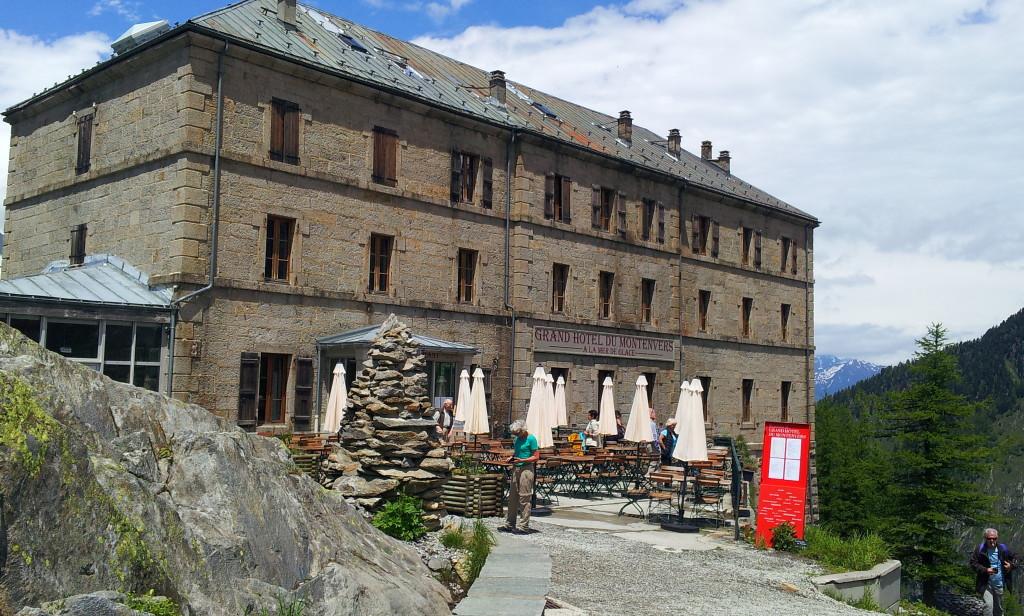 Le Grand Hôtel du Montenvers à la Mer de Glace