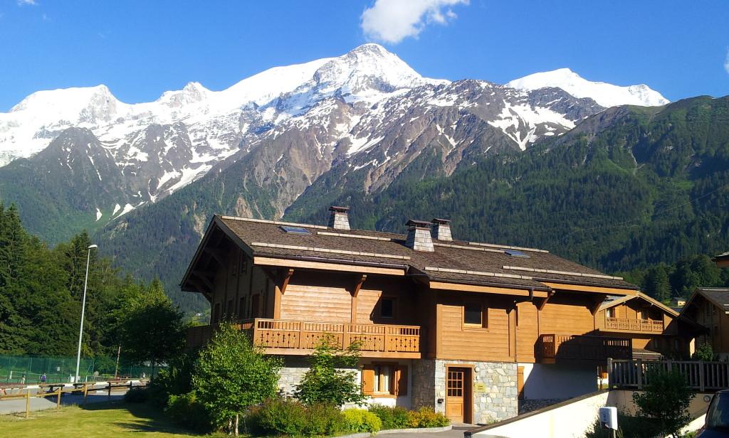 Résidence de vacances CGH Les Houches face au massif Chamonix-Mont-Blanc