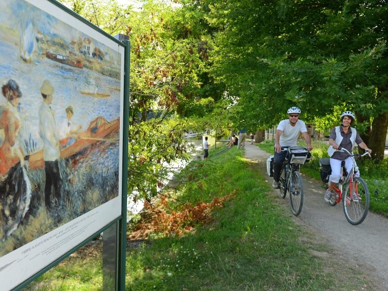Vélo, Ile aux impressionnistes, Chatou, dep78, France, Yvelines Tourisme