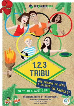 affiche-1-2-3-tribu-les-2-alpes-2016