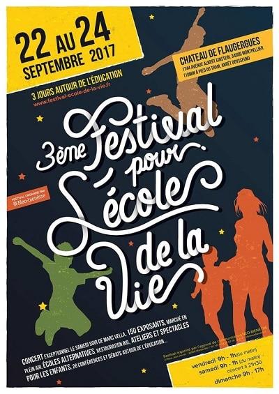Affiche du Festival pour l'école de la vie 2017