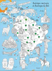 Atlas du monde à colorier