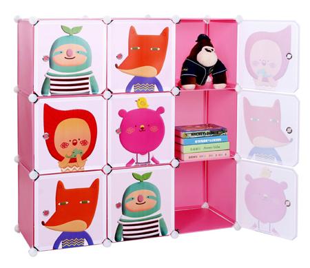 Etagères de rangement en blocs empilables avec motif pour enfant