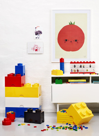 Briques de rangement empilables Lego pour chambre d'enfant