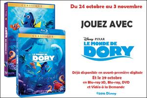 DVD Le Monde de Dory
