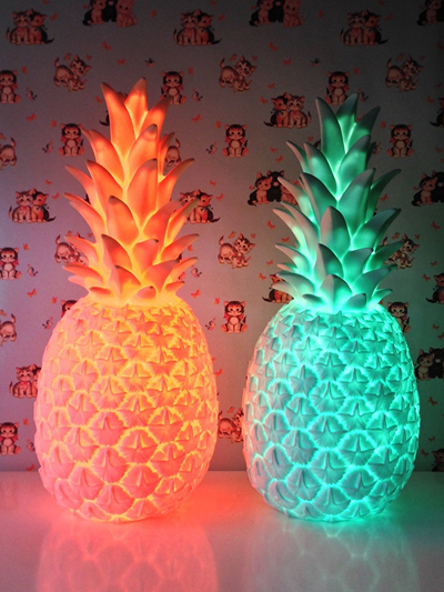 Lampes décoratives en forme d'ananas orange et verte