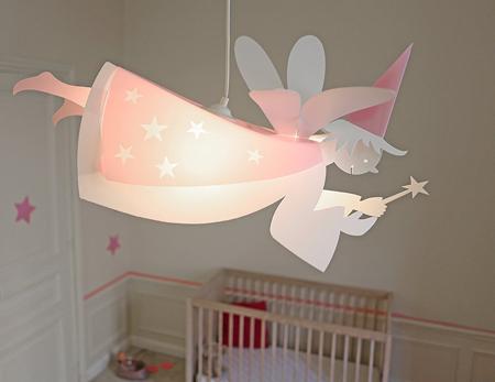 Lampe en suspension fée pour chambre enfant