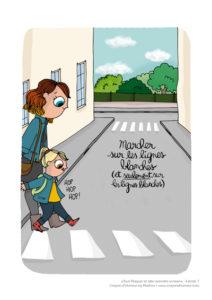 Mathou nous livre ses petits moments de bonheur en dessins