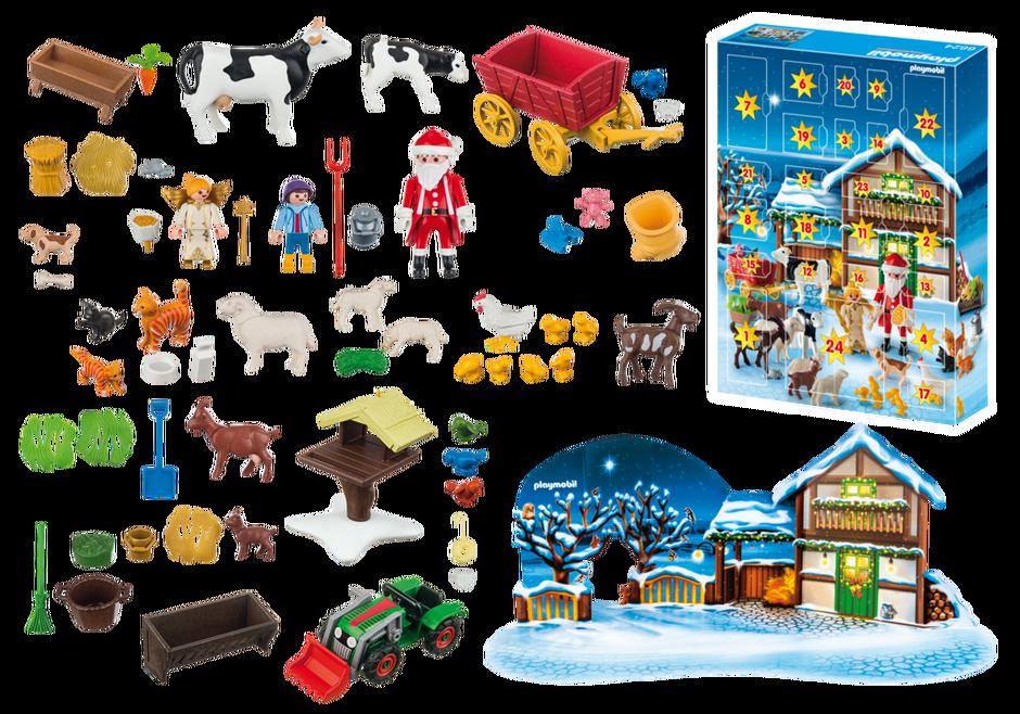 ... le calendrier de l'Avent « Père Noël à la ferme » de Playmobil