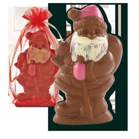 Père Noël en chocolat au lait équitable Alex Olivier