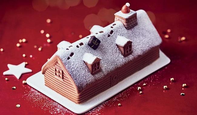 Bûche chalet vanille-caramel Picard