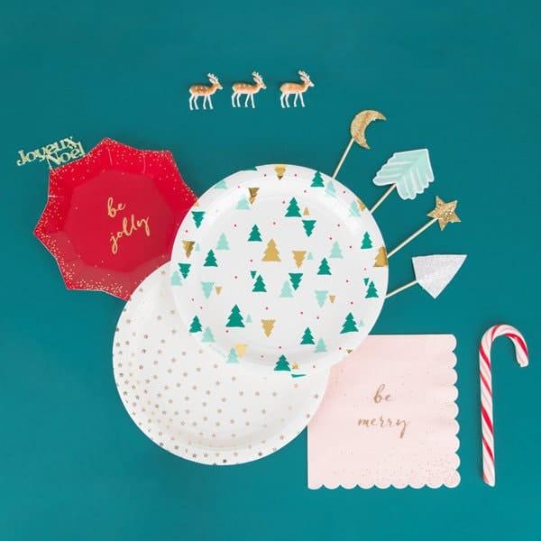 vaisselle et déco de table Noël carton