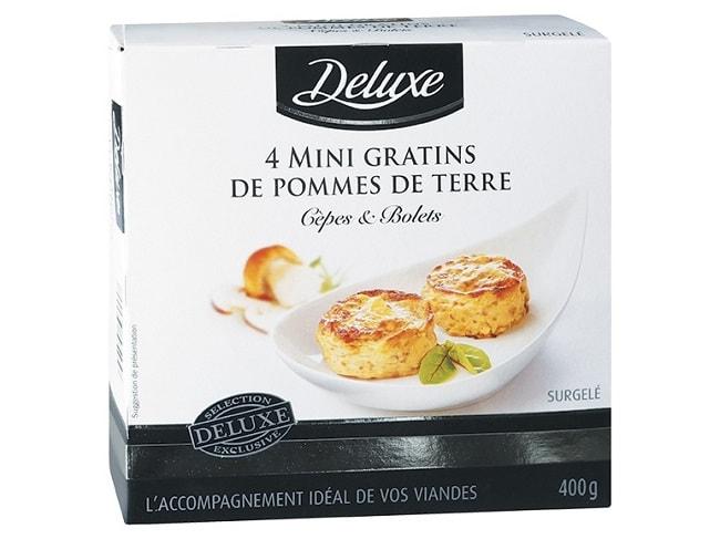 mini gratins pommes de terre bolets cèpes Lidl Deluxe