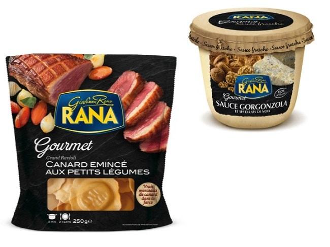 ravioli émincé de canard Rana