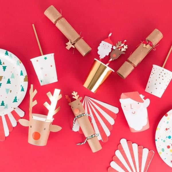 vaisselle de Noël jetable enfants