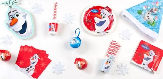 vaisselle jetable Noël Olaf la Reine des Neiges