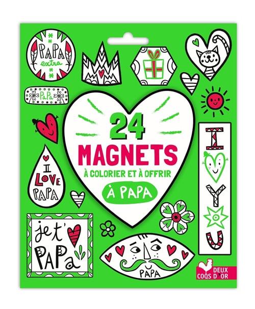 Pochette 24 magnets à colorier et à offrir à papa