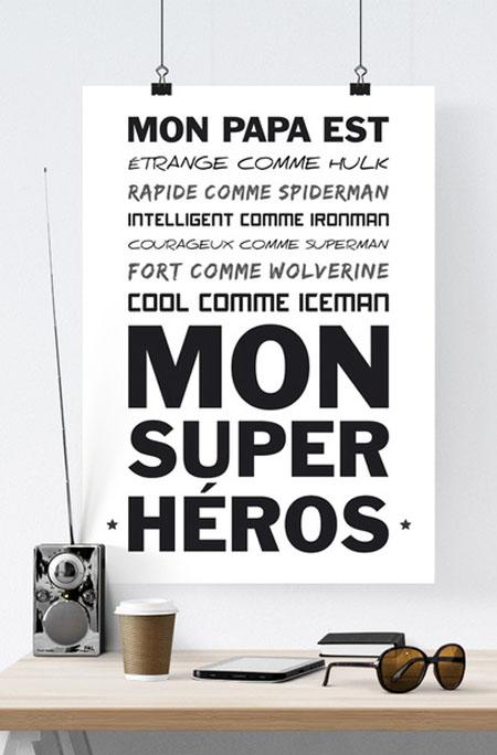 Affiche Papa mon Super Héros