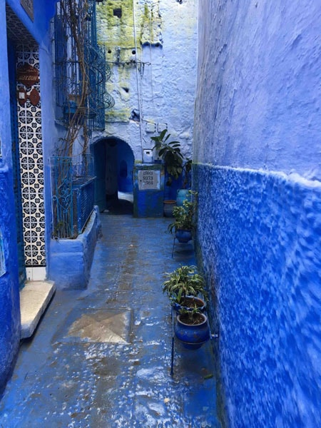 Rue de Chafchaouen, Maroc, la ville bleue