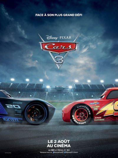Affiche Cars 3, au cinéma le 2 août 2017