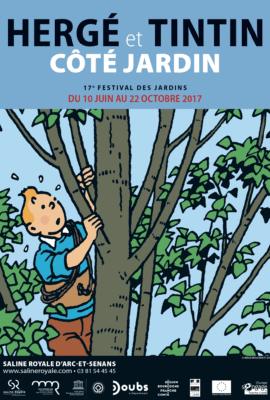 Expo Hergé et Tintin Côté Jardin, Saline Royale d'Arc-et-Senan
