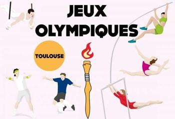 Anniversaire sur le thème des J.O. au Stade Français de Toulouse