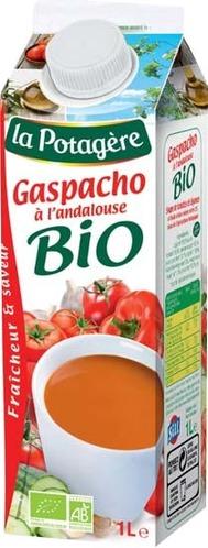 Bouteille 1L gaspacho bio à l'andalouse La Potagère
