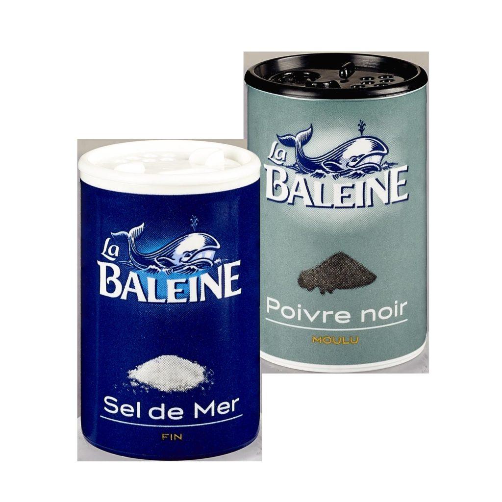 Duo sel et poivre mini format La Baleine
