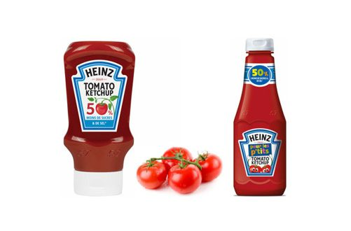 Ketchup 50 % de sucre en moins Heinz