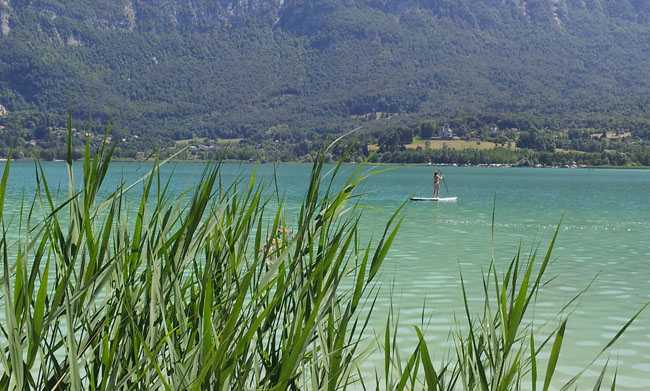 Paddle sur le lac d'Aiguebelette