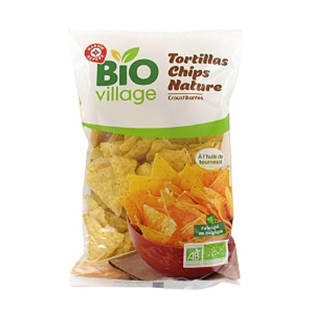 Tortillas chips natures Bio Village